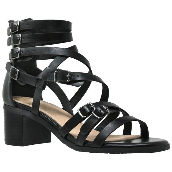 2de5c0a9c2 Sobeyo Shoes | Womens Low Block Heel Gladiator Sandal | Poshmark